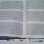 Unintelligible scribblings